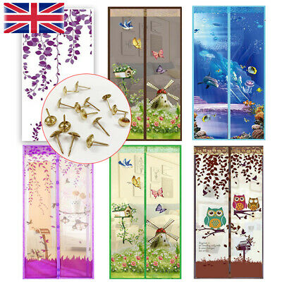 £7.58 • Buy Magnetic Magic Door Mesh Fastening Curtain Net Fly Insect Bug Mosquito Screen