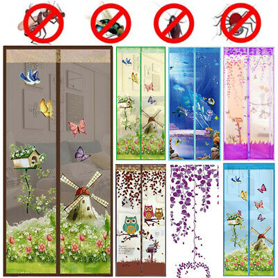 £7.75 • Buy Magic Curtain Door Mesh Magnetic Fastening Mosquito Fly Bug Insect Net Screen P