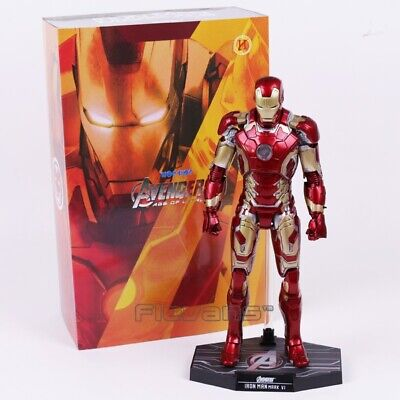 $ CDN102.66 • Buy Hot Toys Avengers Iron Man Mark MK 43 42 6 With LED Light PVC Action Figure Toy