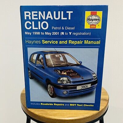 HAYNES SERVICE AND REPAIR MANUAL RENAULT CLIO MAY 1998 TO MAY 2001 - R To Y Reg. • 6.87£