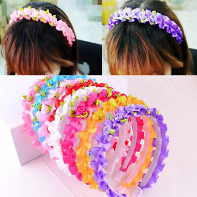 $ CDN3.19 • Buy Plastic Kids'l Hair Band Headwear Resin Ring Bearer Flower Girls Accessories