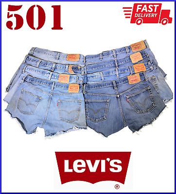 £14.99 • Buy Vintage Womens Levis Denim High Waisted Shorts Jeans Hotpants All Sizes Cut Offs