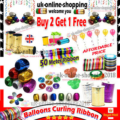 £2.49 • Buy 50 M Curling String Colors Balloon Ribbon Balloons Weight Gift Decoration Fancy