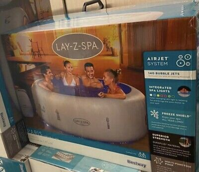 4-6 Person Luxury Lay -Z-Spa Paris Inflatable Hot Tub With Colourful LED Light💦 • 799£