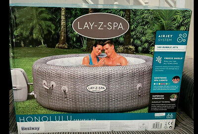 Lay-Z-Spa Honolulu 6 Person LED Hot Tub Jacuzzi BRAND NEW IN BOX  • 660£