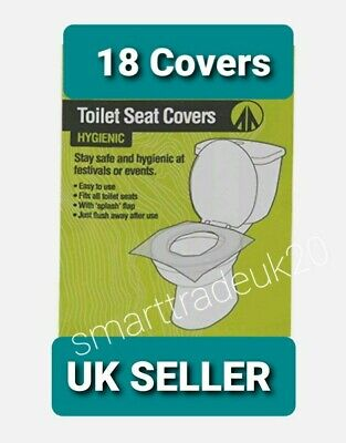 £3.39 • Buy 18pk  Disposable Paper Toilet Seat Cover Flushable Hygienic Health Camping UK
