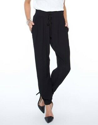 AU60 • Buy Sass Bide Pants Size 12 (Fits 14) Blue Navy Cuffed Ankle Loose Viscose Rayon VGC
