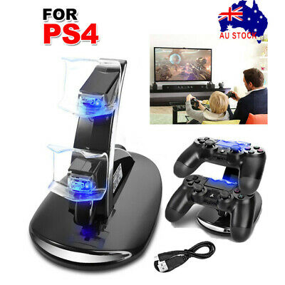 AU13.99 • Buy For Playstation 4 PS4 Controller Charger Dock Dual Stand Charging Station Pad AU
