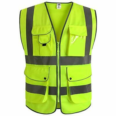 £19.99 • Buy JKSafety 9 Pockets Class 2 High Visibility Zipper Front Safety Vest With