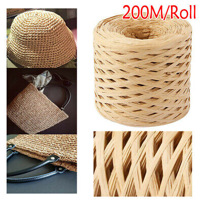 £5.79 • Buy 200m Paper Raffia Cord Anti-bamboo For Cord Crafts Packing Gift Box DIY Weave