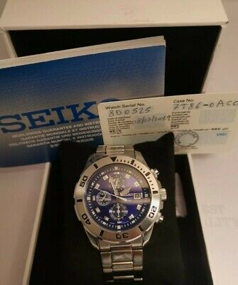 $ CDN241.30 • Buy SEIKO 7T92-0NS0 CHRONOGRAPH 100m DATE Men WATCH Box And Papers