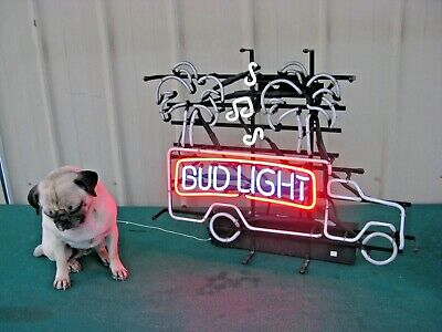 $ CDN214.09 • Buy Vintage 1992 Authentic Bud Light Neon Lighted Beer Sign Palm Magic Tree Truck