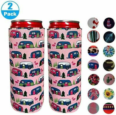 £5.69 • Buy Neoprene Slim Beer Can Cooler Sleeve Holder Cover Cooling Beer Can Cover 2pcs