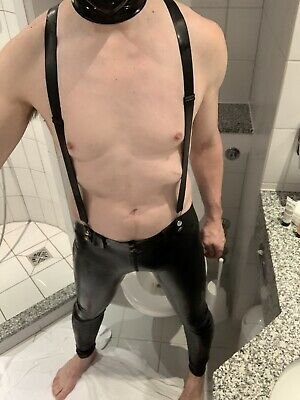 £204.18 • Buy 100% Latex Pants Rubber Men Casual Tight Pants Handsome Trousers