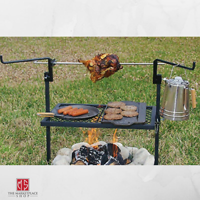 £43.17 • Buy Rotisserie Grill Outdoor Campfire Cooking Camping Equipment Kitchen Patio 24x16