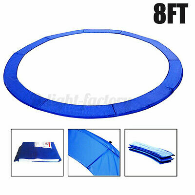 AU40.37 • Buy NEW 8ft REPLACEMENT REINFORCED OUTDOOR ROUND TRAMPOLINE SAFETY SPRING PAD COVER