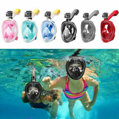 AU23 • Buy Anti Fog Full Face Snorkel Mask Swimming Dive Scuba Goggles Adult Kids For GoPro
