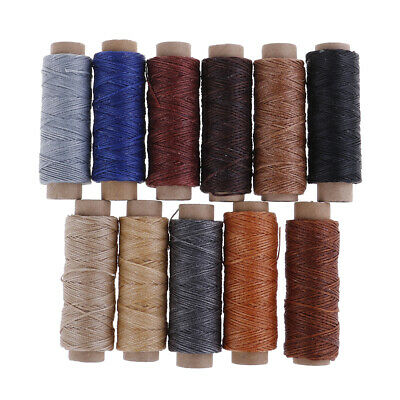 £4.07 • Buy 50m/Roll Leather Sewing Flat Waxed Thread Wax String Hand Stitching Craft 150 FX