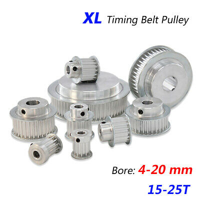 AU6.69 • Buy XL Timing Belt Pulleys With Steps 4-20mm Bore 15T-25T For 10, 15mm Wide Belt CNC