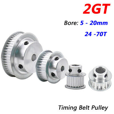 AU4.49 • Buy 2GT GT2 Timing Belt Pulleys With Steps 5mm-20mm Bore 24T-70T For 3D Printer, CNC