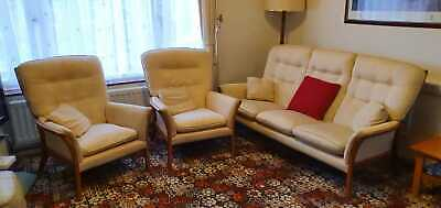 Parker Knoll 3 Piece Suite Sofa Chairs Vintage Traditional Timeless Classic  • 250£