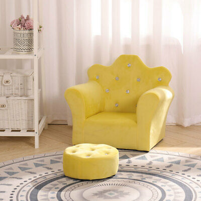 £36.95 • Buy Velvet Kids Sofa Armchair With Free Stool Game Reading Play Children Chair Seat