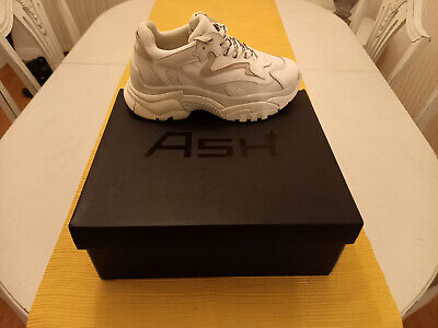 £109.95 • Buy Ash Addict Chunky Running Trainers - Off White/White EUR 38 UK 5 *Worn Once*