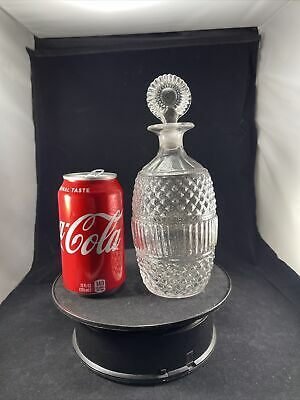 $160 • Buy Antique Flint Glass 3 Mold Sandwich Early Colonial Bottle Decanter Rare Size