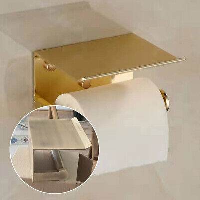 AU23.72 • Buy Wall Mounted Toilet Paper Phone Holder Rack Tissue Roll Stand HOT