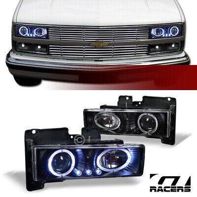 AU128.57 • Buy For 1988-1993 Chevy/GMC C10 CK C/K Black LED Halo Projector Headlights Lamps K2