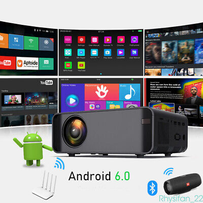 Wifi HD 3D 4K Bluetooth Mini Android LCD Projector Home Movie Theater HDMI AV UK • 98.88£