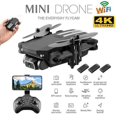AU61.99 • Buy New Foldable Pro Drone With Dual 4K HD Camera WIFI FPV Mini RC Selfie Quadcopter