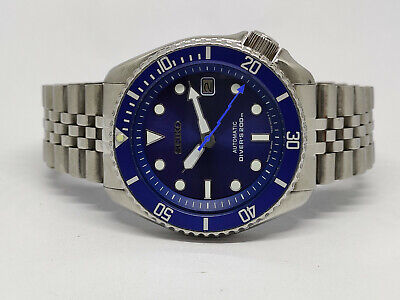 $ CDN84.86 • Buy Seiko Diver Automatic Watch 7002-7000 Blue Sunburst Modded Sn. 280280