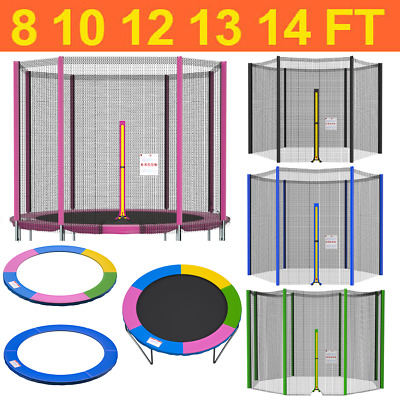 £30.99 • Buy 8 10 12 13 14 FT Replacement Trampoline Safety Net And Spring Cover Padding Pads