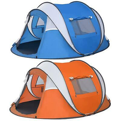 6 Person Instant Pop-Up Tent Waterproof Camping Outdoor Family Hiking Shelter UK • 73.29£