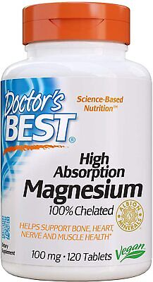 £11 • Buy High Absorption Magnesium Glycinate Lysinate, 100 Mg, 120 Tablets, 100% Chelated