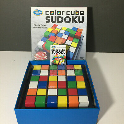Think Fun Colour Cube Sudoku 3D Puzzle By Paul Lamond Games • 15.99£