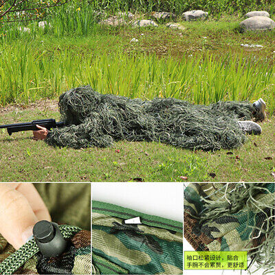 AU67.22 • Buy 5Pcs Ghillie Suit Woodland Camouflage Hunting Archery Sniper Clothing HOT