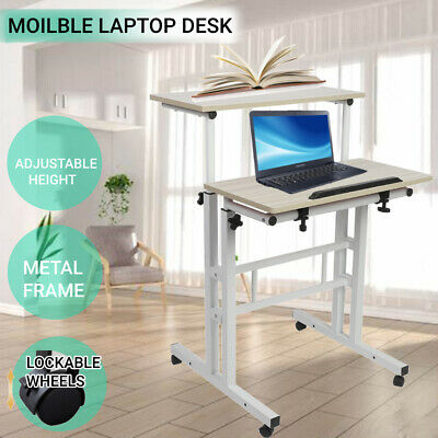 AU48.98 • Buy Laptop Desk Portable Mobile Stand Up Computer Table Stand Adjustable 67-110cm
