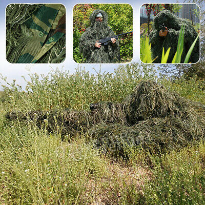 AU77.66 • Buy 5Pcs Ghillie Suit Woodland Camouflage Hunting Archery Sniper Clothing