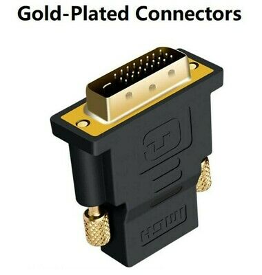 AU3.99 • Buy DVI D Male Dual Link To HDMISocket Cable Adapter Plug For HDTV Female Converter