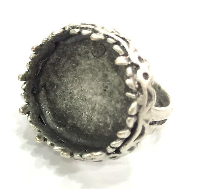£3.19 • Buy Ring Blank Setting Base Bezel Cabochon Antique Silver Plated Brass G5239