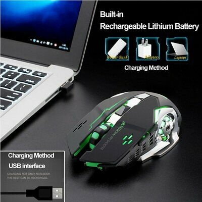 AU19.88 • Buy Wireless Gaming Mouse Rechargeable Wireless Mice Noiseless LED Backlit Optical
