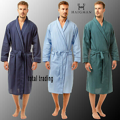 £17.85 • Buy Mens Dressing Gowns  Poly Cotton Holiday Hospital Summer Lightweight  Plain