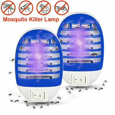 £3.75 • Buy 2 X Electric UV Light Mosquito Killer Insect Fly Zapper Bug Trap Catcher Lamp KK