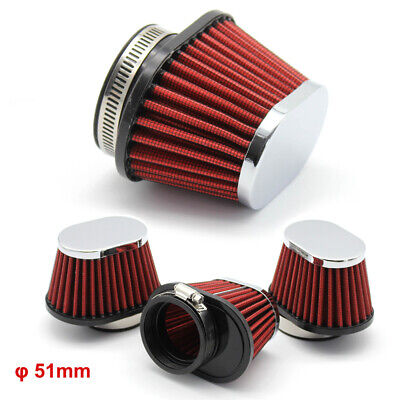 £20.89 • Buy 4x 51mm Oval Cone Performance AIR FILTER Motorcycle Carb Size 50mm RC312 RC 312