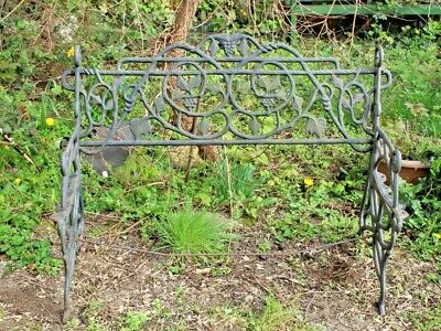 Antique Wrought Iron Garden Bench Used Victorian Architectural Salvage Ornate • 200£