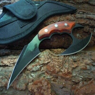 $ CDN48.36 • Buy Blade Knife Fixed 440c Steel Black Stainless Full Tang Tactical Survival Sheath