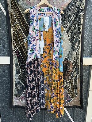 AU250 • Buy M A Dainty 2 Piece Silk Cami And Sleeveless Duster Dress Size 16 NWT RRP $579