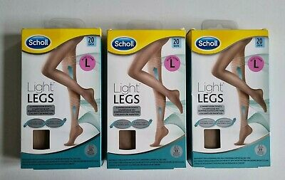 £17.95 • Buy 3 X Scholl Womens Large Light Legs Nude Compression Tights LARGE 20 Denier